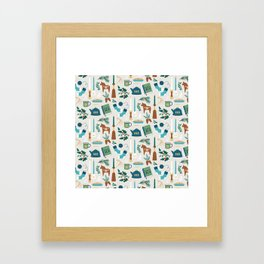 A Very Hygge Holiday Framed Art Print