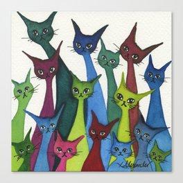 Coronado Whimsical Cats Canvas Print