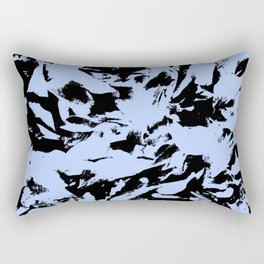 Blue Black Pattern Military Camouflage Rectangular Pillow