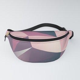 pink dark geometric Fanny Pack