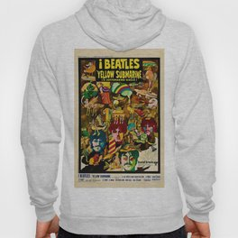 1968 Yellow Submarine Italy Movie Promotional Poster Hoody