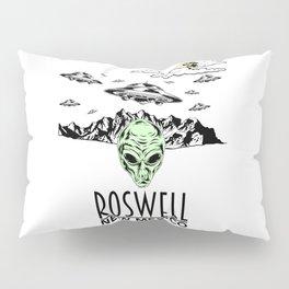 Roswell New Mexico Alien UFO Believer Nerds Gift Shirt Pillow Sham