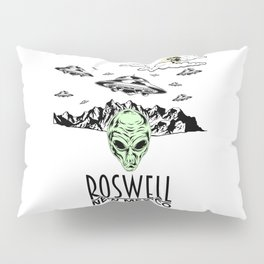 Roswell New Mexico Alien UFO Believer Nerds Gift Shirt Pillow Sham