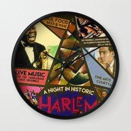 Vintage Harlem Renaissance Angels for the Arts Advertisement Poster Wall Clock