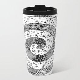 Zentangle®-Inspired Art - ZIA 47 Metal Travel Mug