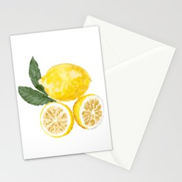 Watercolor Lemons Graphic Design Stationery Cards