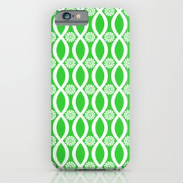 Floral Twist Lime Green iPhone Case
