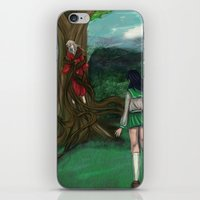 inuyasha iPhone & iPod Skins featuring Inuyasha and Kagome by Creativelea