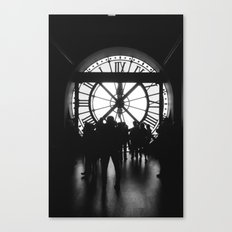PARIS IV - CLOCK Canvas Print