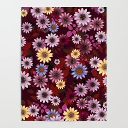 Multicolored natural flowers 4 Poster