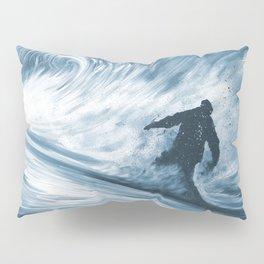 Snowboarder in 100km Blower Pillow Sham