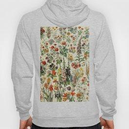 Adolphe Millot- Vintage Flowers Illustration Hoody
