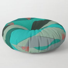 Layered Reef Floor Pillow