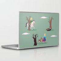 fairy tale Laptop & iPad Skins featuring fairy tale by notbook