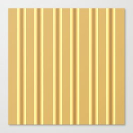 Beige Ocher  Vertical  Stripes  Background Canvas Print