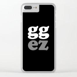 gg ez Clear iPhone Case