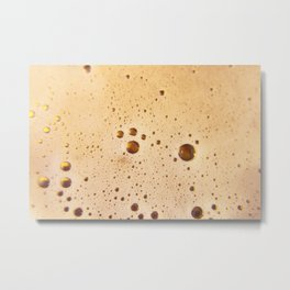 Beer foam above tasty Metal Print