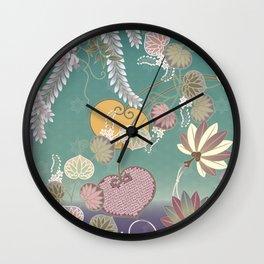 Beautiful Peaceful Scene of Flowers in the Wind Wall Clock