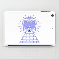 evil eye iPad Cases featuring EVIL EYE by Anna Lindner