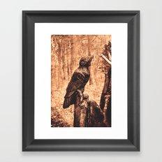 Raven (Slavanic paganism) Framed Art Print