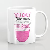 yolo Mugs featuring YOLO by Rachel Butler