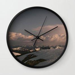 Alaska Snow Day Wall Clock