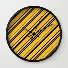 Potterverse Stripes - Hufflepuff Yellow Wall Clock
