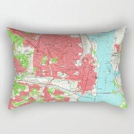 Vintage Map of Alexandria Virginia (1965) Rectangular Pillow