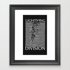 Lightning Division Framed Art Print