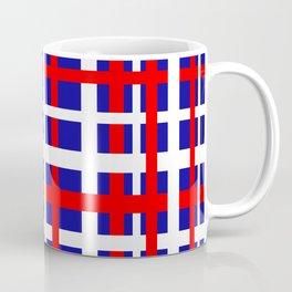 Patriotic Interlocking Stripes Coffee Mug