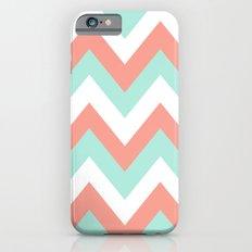MINT & CORAL CHEVRON Slim Case iPhone 6s