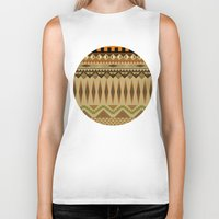 aztec Biker Tanks featuring Aztec by Jack Robson