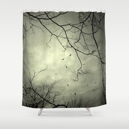 Spooky Kettle of Turkey Vultures Shower Curtain