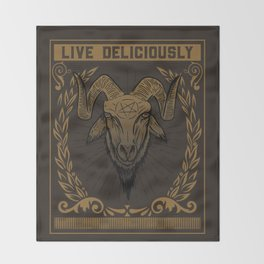 Live Deliciously Throw Blanket