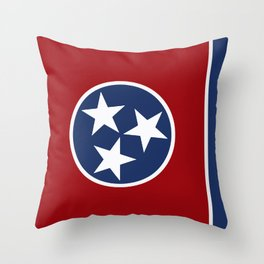 Tennessee: Tennessean Flag Throw Pillow