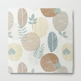 Abstract Modern Sketched Botanical Print No. 5 Metal Print