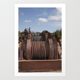 Steel Cables Art Print