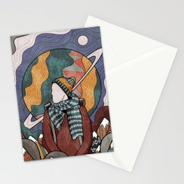 A cold space winter's day Stationery Cards