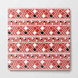 Yuchi Red Square Metal Print