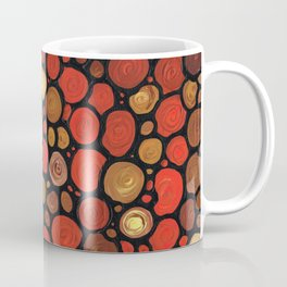 Lovers -Warm Earthy Mosaic Painting by Labor of Love artist Sharon Cummings. Coffee Mug