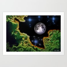 Cracked Earth Art Print