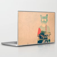 cat coquillette Laptop & iPad Skins featuring Cool Cat by Ali GULEC