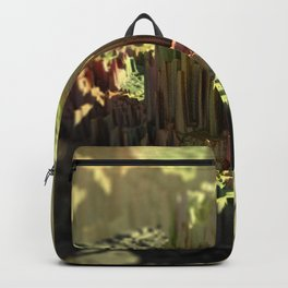 Crystal formation mountain landscape Backpack