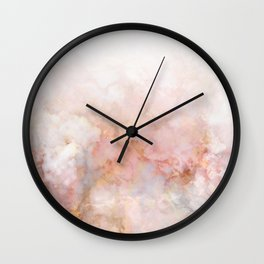 Beautiful Pink and Gold Ombre marble under snow Wall Clock