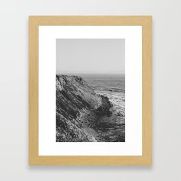 Point Vicente - California Coast - Black & White Version Framed Art Print