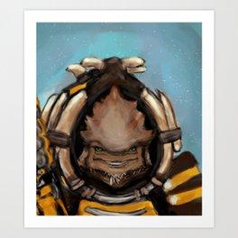 Krogan Pancake Art Print