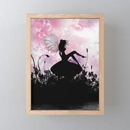 Fairy Silhouette Framed Mini Art Print