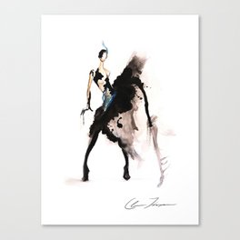 Dripping With Ink Canvas Print