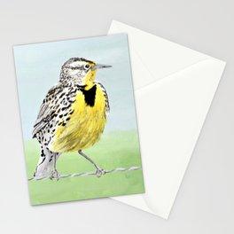 Wyoming Meadowlark Bird Art Stationery Cards