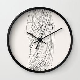 Roman consul from An  of the Egyptian Grecian and Roman costumes by Thomas Baxter (1782-1821) Wall Clock